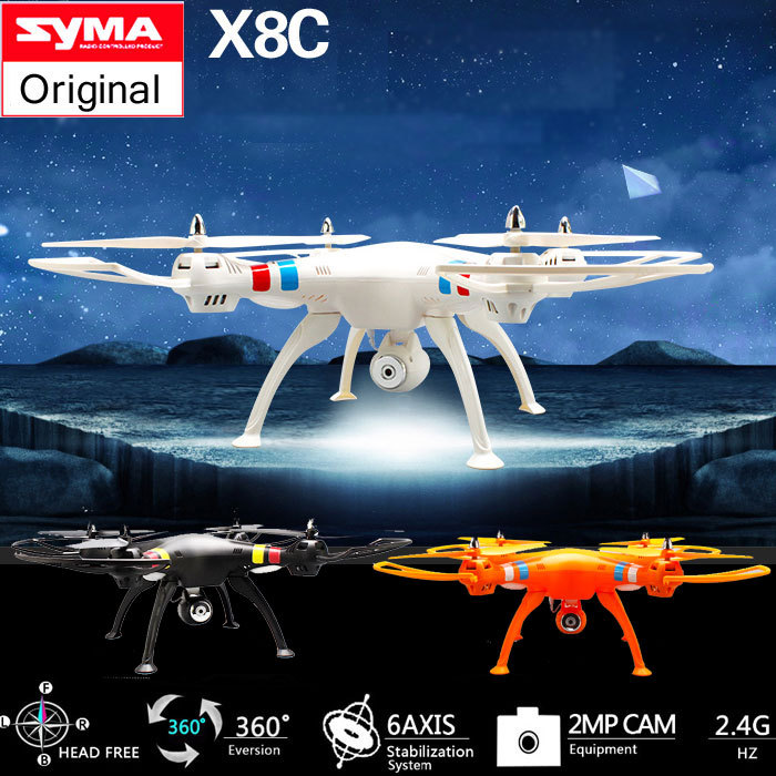 Syma X8C 2.4G 4CH 6 Axis Venture with 2MP Wide Angle Camera RC Quadcopter Drone RC Helicopter Headless vs DJI Phantom<br><br>Aliexpress