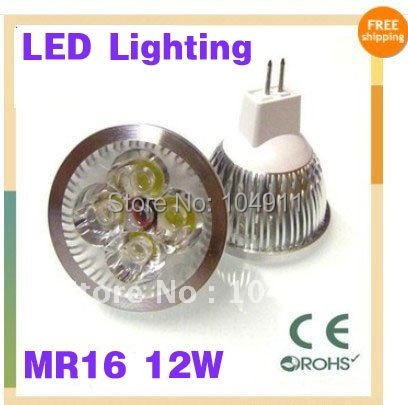 Bulk Sale High power Dimmable led bulb MR16 4x3W 12W Rotundity LED Lamp Light Bulb Downlight NEW DHL 30pcs/lots(China (Mainland))