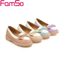 big Size34-43 2016 New Fashion Women Spring Autumn Flats Shoes Round toe Platforms Shoes 4Colors Casual Shoes Ankle Boots FS368