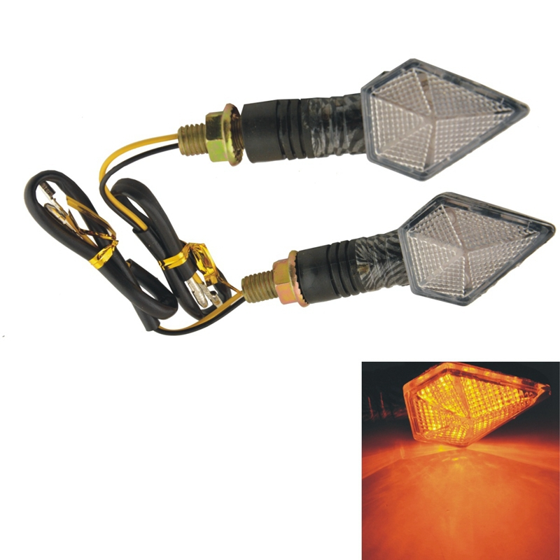 2PCS Moto Accessories Motorcycle Yellow 12 SMD LED Motorcycle Indicator Turn Signal Lights Steering Lamps(China (Mainland))