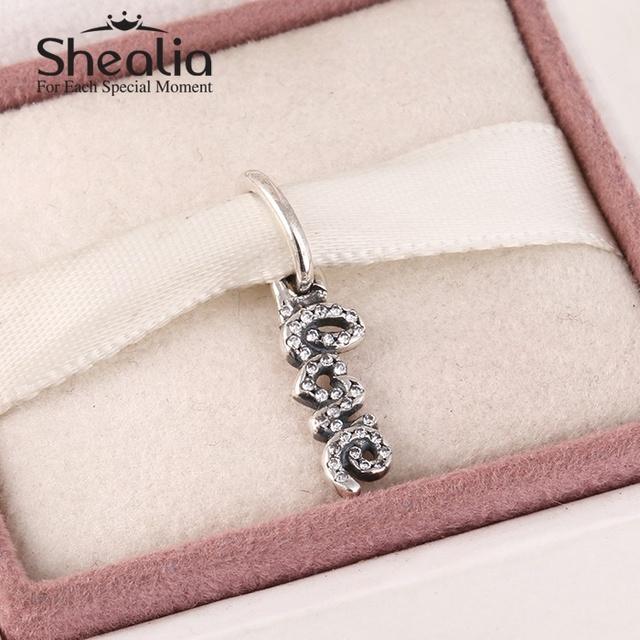 2015 новый стерлингового серебра 925 пробы буквы любви алфавит подвески подвески проложить ясно циркон для женщин известный бренд браслет SH0594