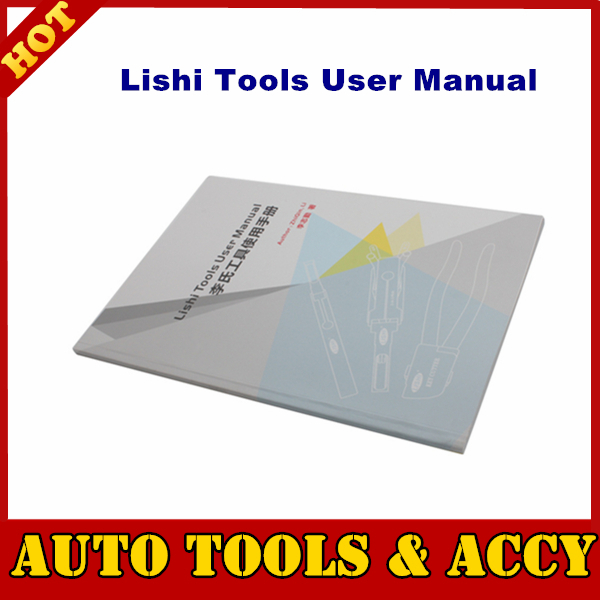 Free shipping Lishi Tools User Manual User Guide(China (Mainland))