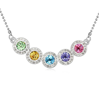 Hot New 2016 Fashion Necklace Pendants For Women Jewelry Crystal from Swarovski Elements 18K White Gold Plated 10839