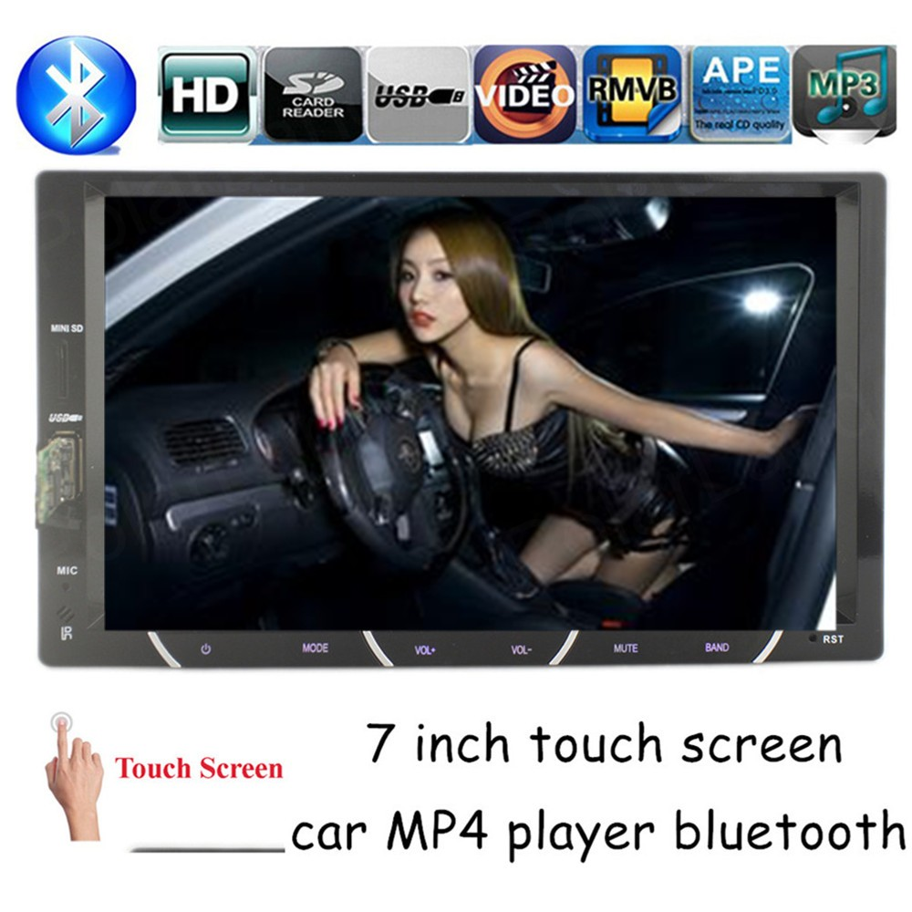 touch screen universal 2 din 7 inch for Rear View Camera Car MP4 MP5 Player Stereo FM USB SD In-Dash Chinese English language(China (Mainland))