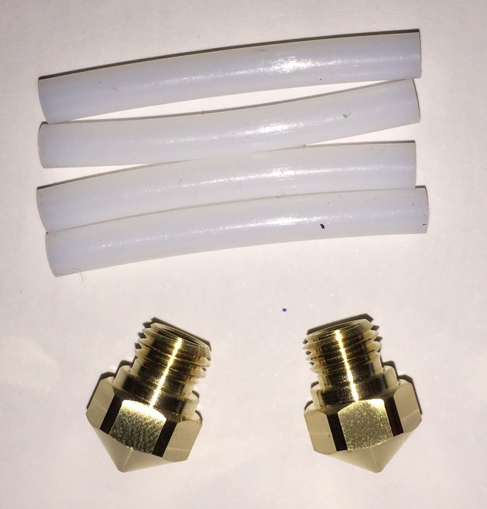 2 Nozzles and 4 Teflon Tubes kit for  Creator Pro and Dreamer