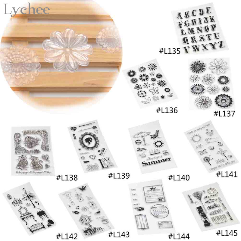 1Piece New Arrival DIY Transparent Rubber Stamps Sunflower Chrysanthemum Pattern Scrapbooking Decoration Stamps(China (Mainland))