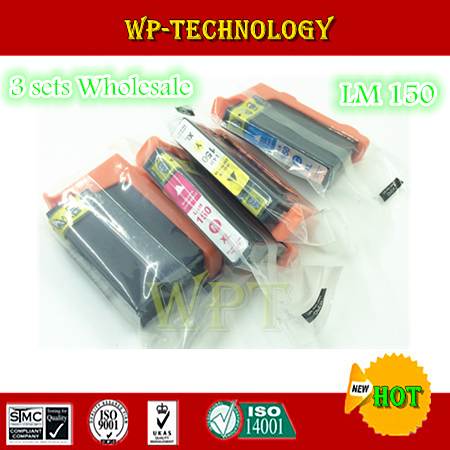 Wholesale 3 sets Compatible ink cartridges LM150, LM-150XL suit for  Lexmark PRO S315 S415 S515 Pro715 Pro915 .with Chips<br><br>Aliexpress