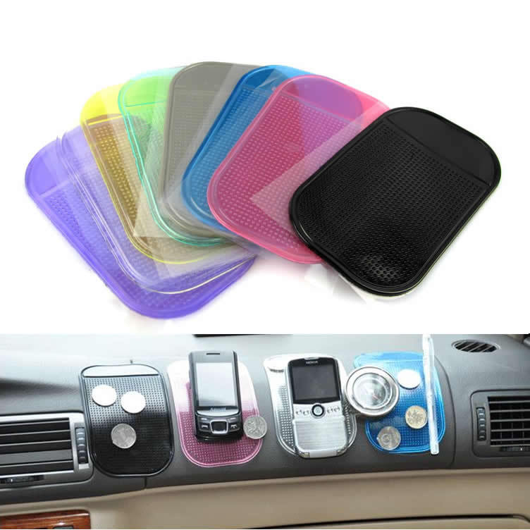 Free shipping Powerful Silica Gel Magic Sticky Pad Anti Slip Non Slip Mat for Phone PDA mp3 mp4(China (Mainland))