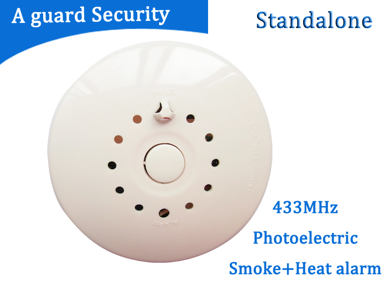 2pcs hot Photoelectric gsm sms smoke alarm 433/315MHZ Wireless Smoke Detector and Fire Alarm Sensor for gsm alarm systerm