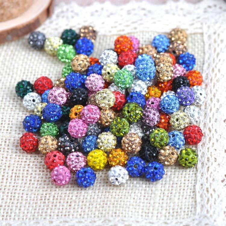 10 мм кристалл шамбалы бусины дискотечный шар diy для шамбалы браслет ювелирные