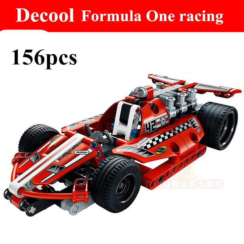 2015 new hot sale decool 3412 warrior dazzing red racer pull back technic car Building Block Sets Toys Compatible With Legoe<br><br>Aliexpress