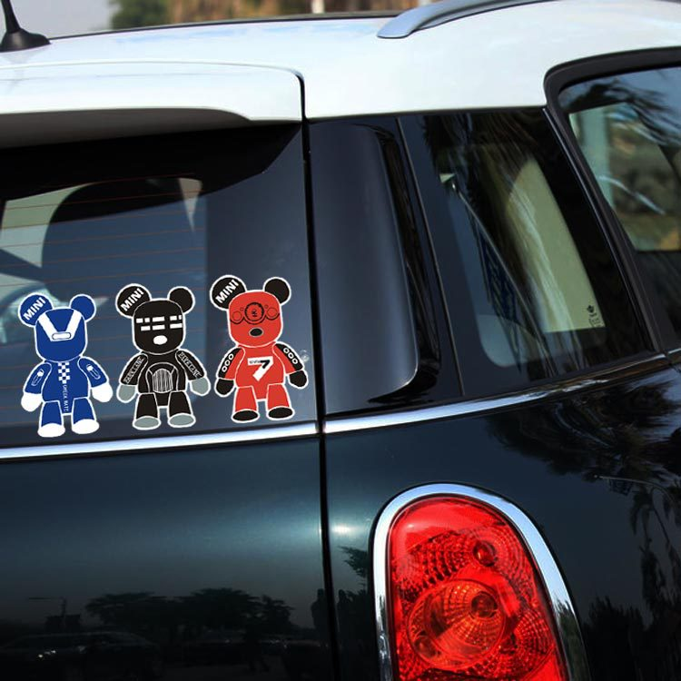 Car Styling Violent bear Car Stickers / Decals Motorcycel reflective sticker Car Cover For Chevrolet Cruze Ford Focus volkswagen(China (Mainland))