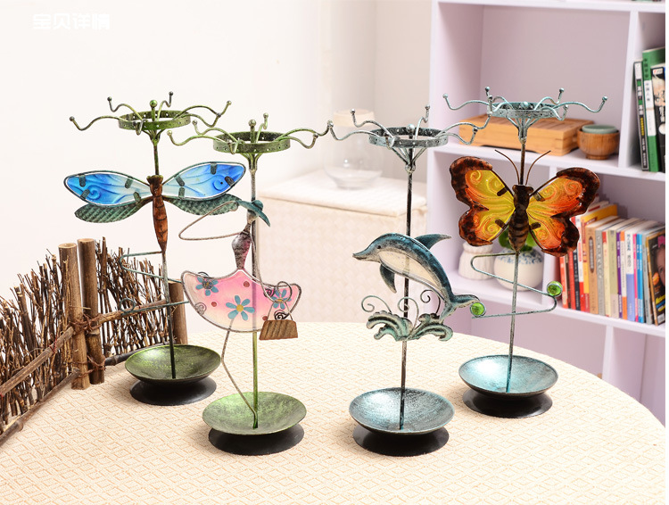 rotating display stand accessory earring stand cute animal free shipping ST00018(China (Mainland))