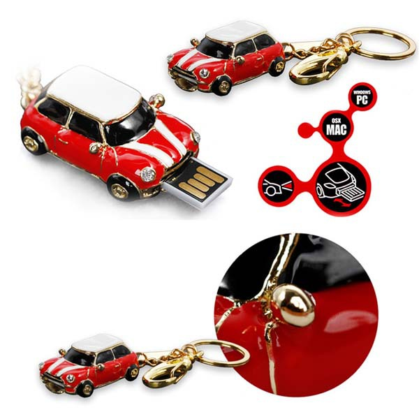 High quality Real Gift mini Car Jewelry usb flash drive 32gb 16gb 8gb 4gb 1gb necklace memory stick pen drive(China (Mainland))