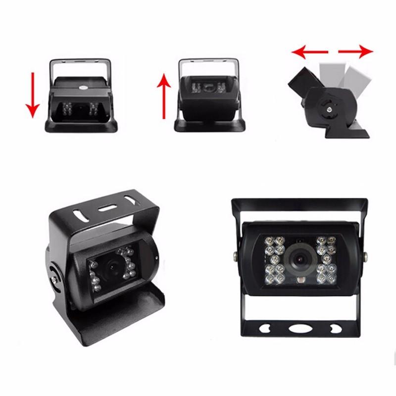 Купить 12 В-24 В CCD Камеры Автомобиля Для Грузовиков Ван Прицеп Автобусов ночного Видения HD CCD Водонепроницаемый Автомобиля заднего вида резервного копирования камера заднего вида