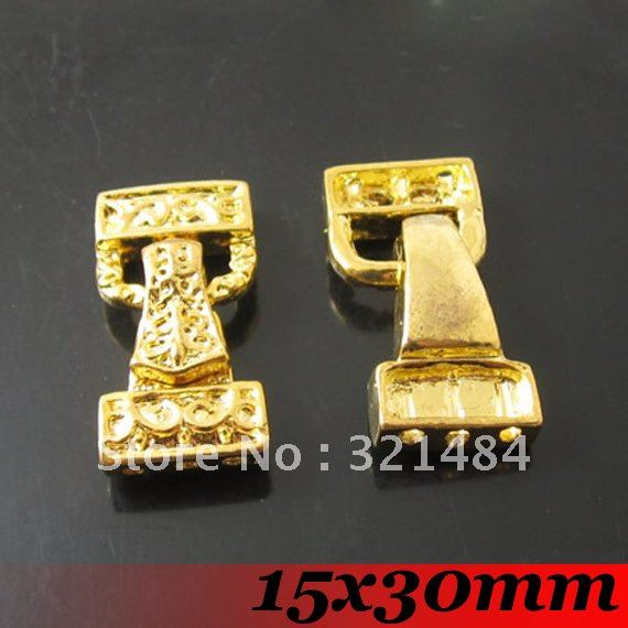 Free Ship! 15x30mm 100piece Jewelry DIY Findings - Gold Plated Tone Metal Magnetic Clasp<br><br>Aliexpress