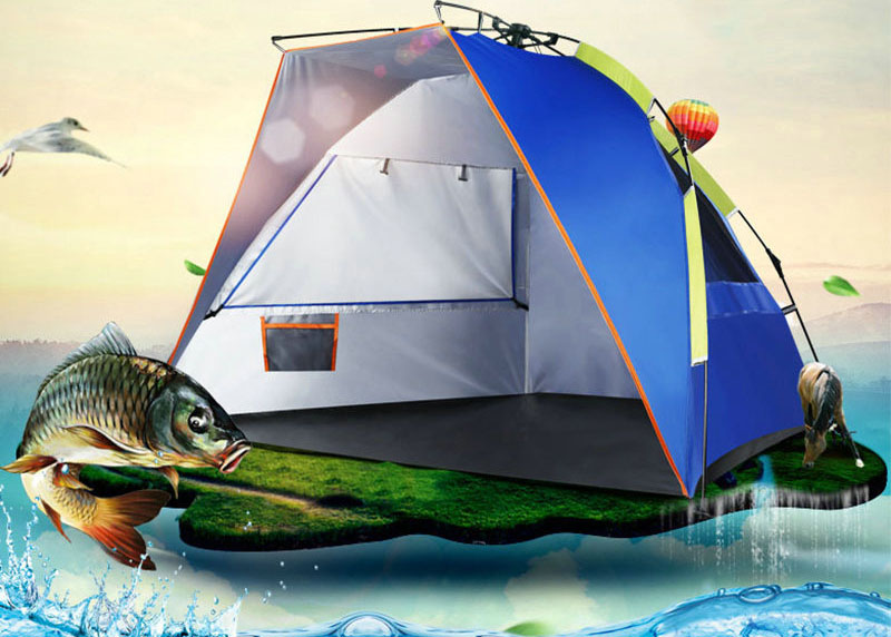 Outdoor Protable Automatic Easy Set Up Waterproof Fishing Tent for Two Persons Beach Tent(China (Mainland))