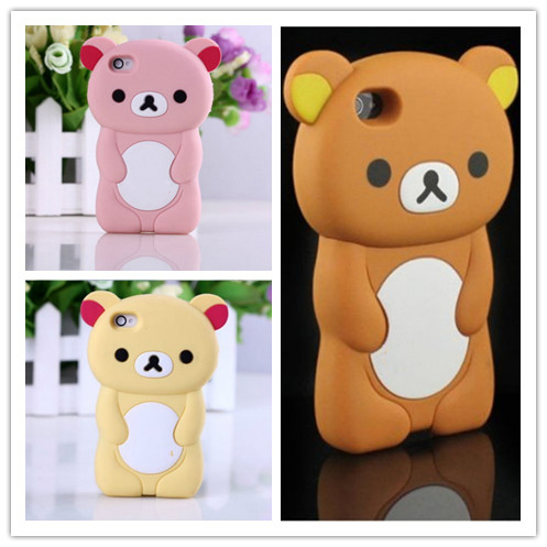 Phone Case For iPhone 5S Case 3D Rilakkuma Cute Brown Bear Cover For iPhone 5 5S SE 4 4S 5C Silicon Cases Funda Protector Capa(China (Mainland))