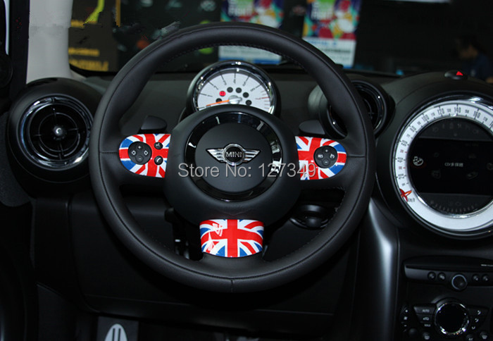 3pcs/set 2015 new ABS Plastic Steering Wheel Cover Decoration with UV Protected Modified Parts For MINI ONE MINI Cooper R55-R61(China (Mainland))
