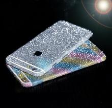 DIY Sparkling Shinny Colors Full Front Screen Back Protection Cover Sticker Set For iphone6/6s/6plus Decorative Sticker