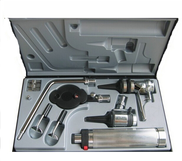 Multi-purpose ENT Medical Diagnostic Ear Care Otoscope Ophthalmoscope kit(China (Mainland))