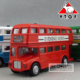 1:48 acousto-optic version Liangyou classic British London Double Decker Bus bus alloy toy car model(China (Mainland))