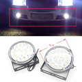 2X 12V 18 LED Round Auto Head Car LED Driving Light Automobile Daytime Running Light DRL