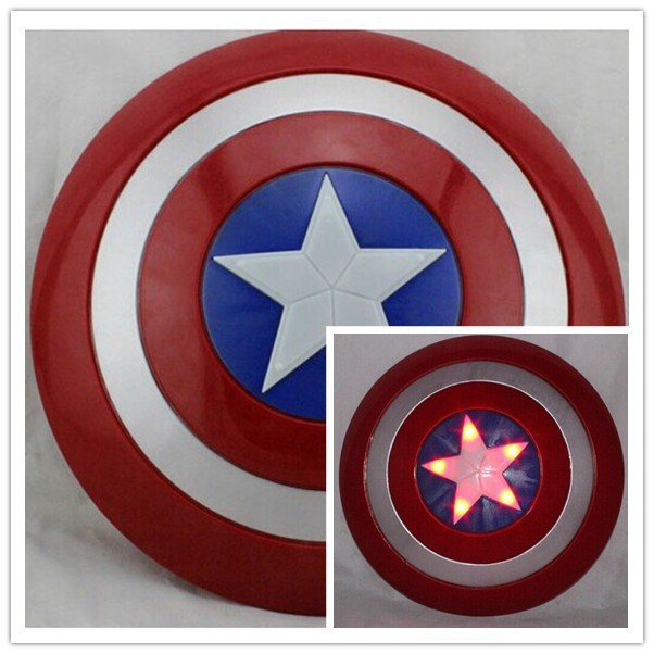 Free Ship Super Hero Avengers Movie Model Captain America Shield With Sound and LED light PVC Action Figures Toys For Children<br><br>Aliexpress