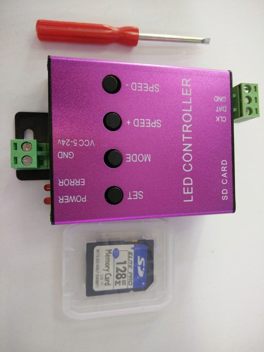 T-1000S SD Card WS2801 WS2811 WS2812B LPD6803 LED 2048 Pixels Controller DC5~24V T-1000s DMX 512 RGB Controller(China (Mainland))
