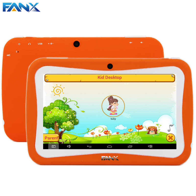 Free Shipping Popular Kids Gift TAB 7 inch Children Kids Games Tablet PC RK3026 Dual Core PAD Android 4.4 MID Kids Birthday Gift(China (Mainland))