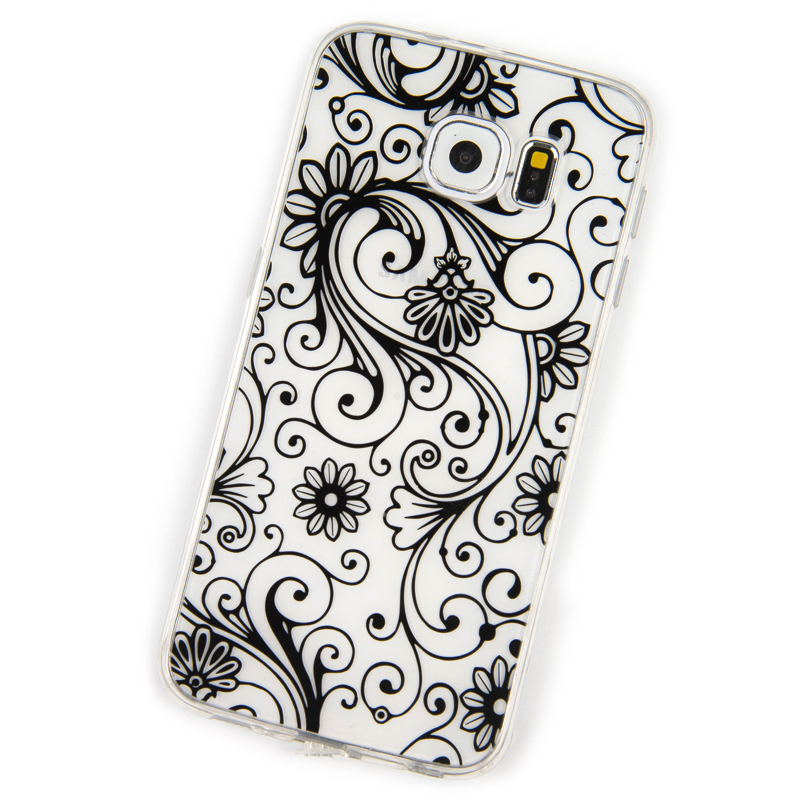Phone Cases for Samsung Galaxy S6 Case Lucky Clover four-leaf TPU soft Silicon Cover Dust Plug Full mobile phone bags & cases(China (Mainland))