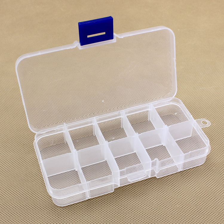 10grid Fixed format plastic pill cases PP Storage Collections Container Box Case(China (Mainland))
