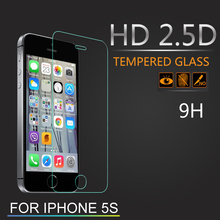 0.30mm 2.5D Ultra HD Tempered Glass film screen protector for iPhone 5 5s 5c free shipping and come with clean tools