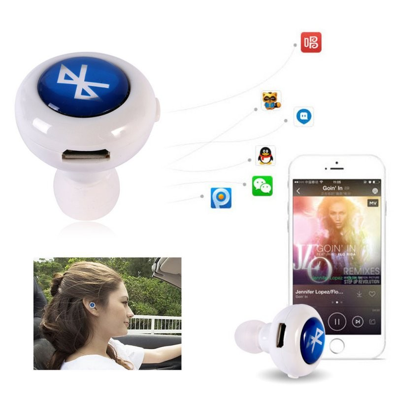 Fashion Mini Headset Bluetooth Earphone wireless Headset in ear Earpiece auriculares handfree call listen music Free shipping