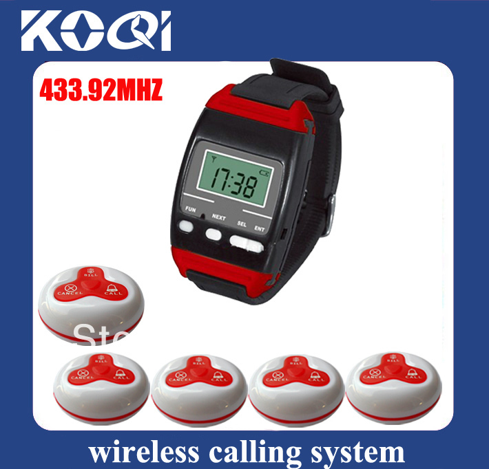 433.92mhz customer service call system 650-A3 w 1 wireless call receiver and 15 wireless call button DHL free shipping(China (Mainland))