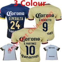 2016 Mexico America Soccer Jersey Home Yellow Shirt MICKY M.LAYUN O.PERALTA D.BENEDETTO de futbol Americaes Morbi liga Away Blue(China (Mainland))