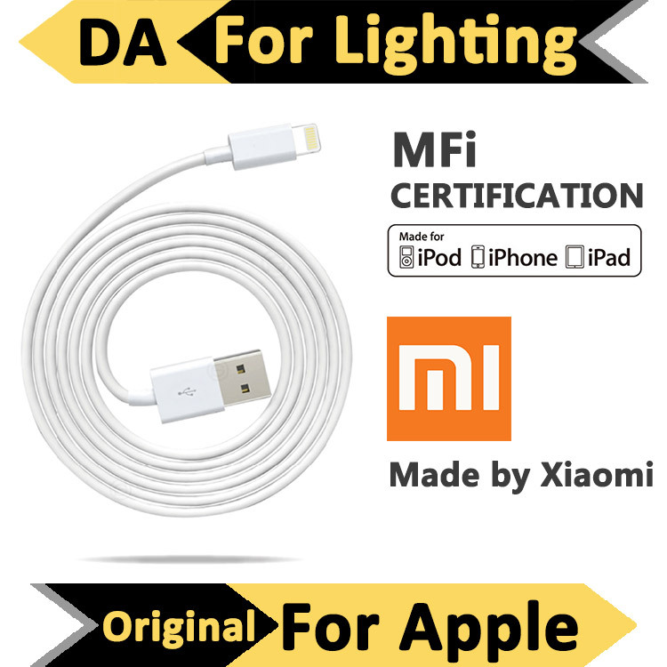 MFI Approved Certification 100% Original Xiaomi for Lightning to USB Cable for iOS 8 for Apple iPhone iPad 1m Support 5V 2.4A(China (Mainland))
