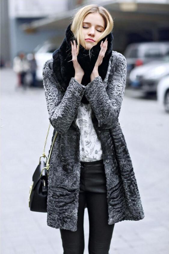 Men and women fashion scarf warm winter scarves fake fur shawl collar