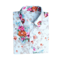 High Quality Spring Long Sleeve Cotton Flower Printing Shirts Lapel Blouses S 4XL For Women Girls