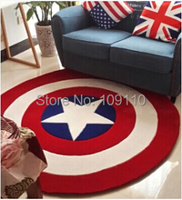 2015 High Quality acrylic Captain America Round rugs Five Star Living room doormat cartoon Carpets Door Floor Mat For Bedroom(China (Mainland))