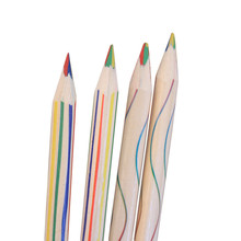 10pcs Rainbow Color Pencil 4 in 1 Colored Pencils For Drawing painting Stationery sale(China (Mainland))