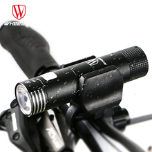 WHEEL UP mini usb rechargeable bike light front handlebar cycling led lights battery 18650 flashlight torch bicycle accessories(China (Mainland))