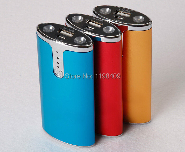 New 2014 apple1 brand 5600mah power bank, USB rechargeable cell phone GPS computer, 18560 storage batteries, flashlight(China (Mainland))