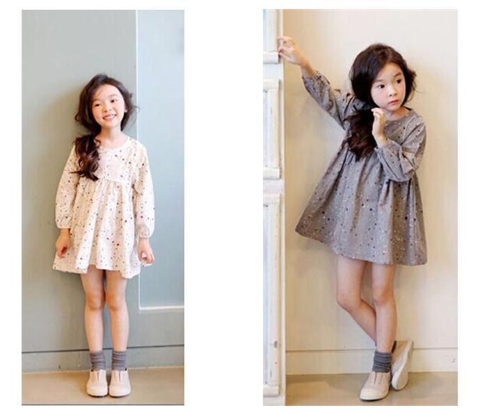 KIKIKIDS 5pcs/lot 2~7Y Girls Crochet Lace Dress Kids Three Quarter Girls Lace Dress Wholesale Girls Children Princess Dress(China (Mainland))