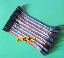 Free Shipping  40pcs=1lot  10cm 2.54mm 1pin feMale to feMale jumper wire Dupont cable