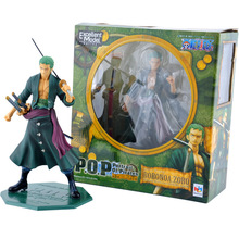 Anime One Piece 23cm P.O.P POP Roronoa Zoro After 2 Years PVC Figure Toy PVC Action Figure Collection Model Toy(China (Mainland))