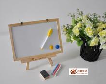 Free shipping New Zakka 1 pcs dual-use wood tripod bulletin board Message board/Whiteboard/Bulletin Board/Gifts/Home decoration(China (Mainland))