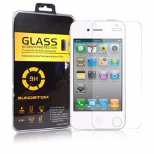 Explosion-proof Anti-scratch Tempered Glass Screen Protector For iPhone 4 4S free shipping