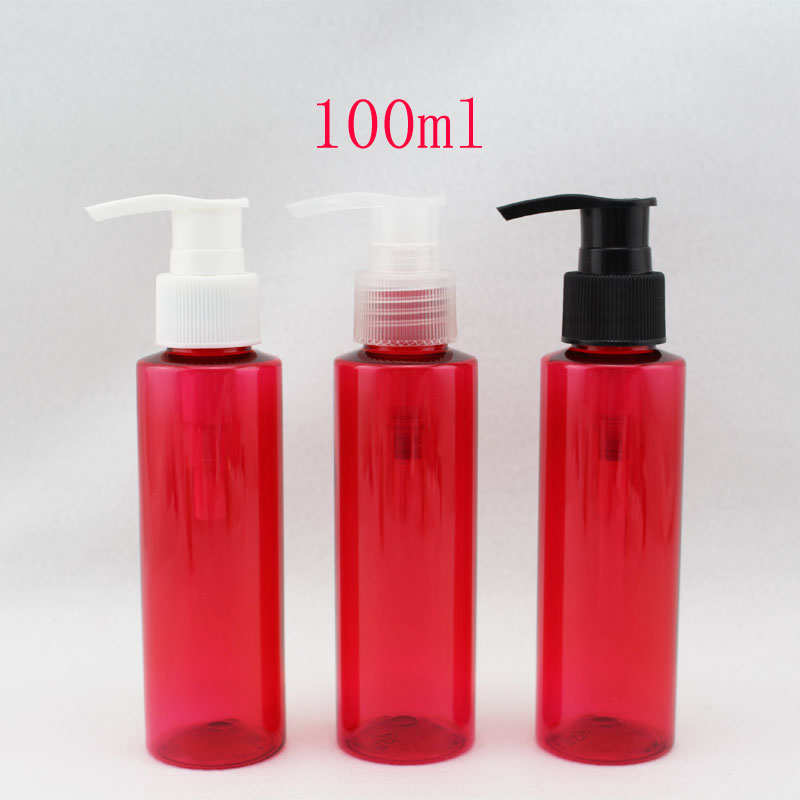 Free shipping 100ml red color  screw pump bottle /red pressurepump bottle/empty ceam containers,50pc/lot<br><br>Aliexpress