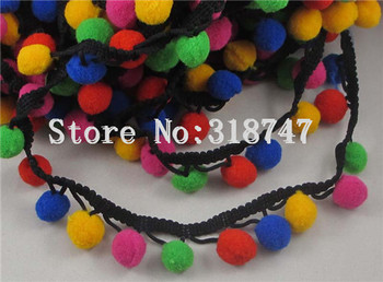 12mm Pom Pom Trim Ball Fringe Ribbon DIY Sewing Accessory Lace 1yard/lot 17010089(12HS1y)